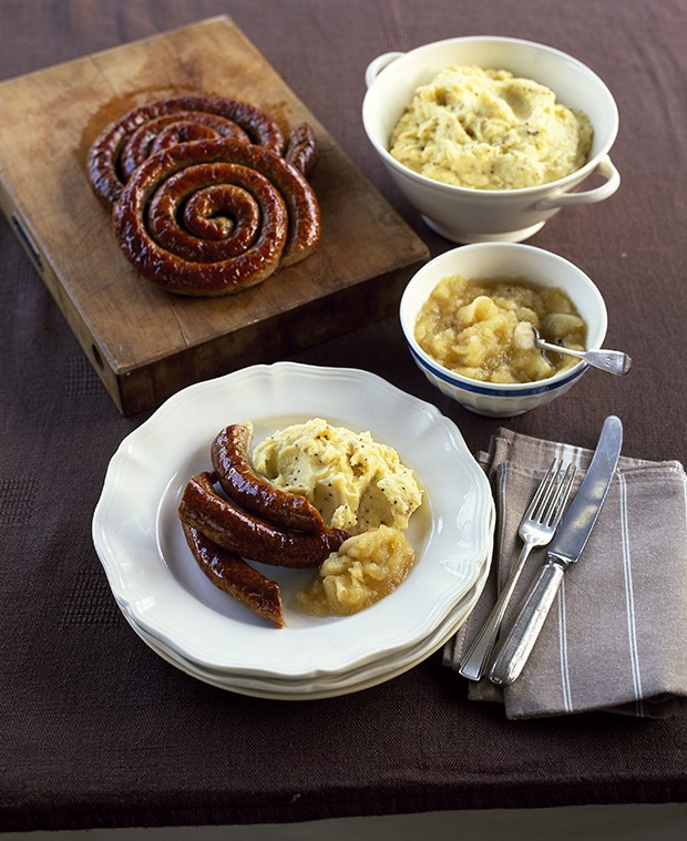 Cumberland Sausage With Mustard Mash And Apple Sauce Recipes