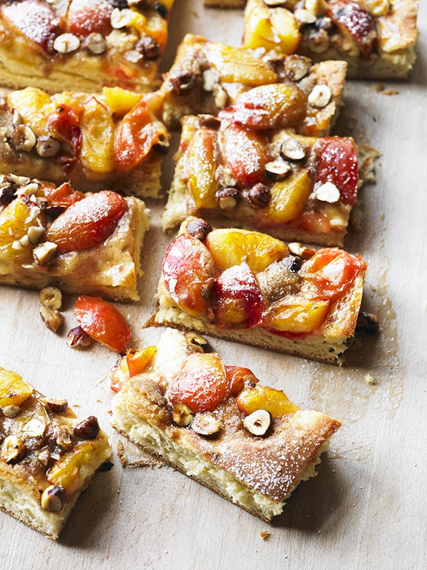 Plum cake recipe with streusel topping country living for Country living magazine recipes