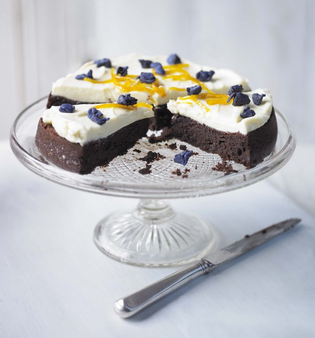 Triple Chocolate Cake With Candied Orange Country Living