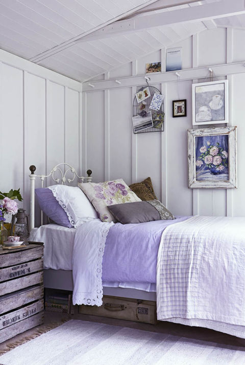 6 design ideas for small bedrooms for Bedroom ideas lilac