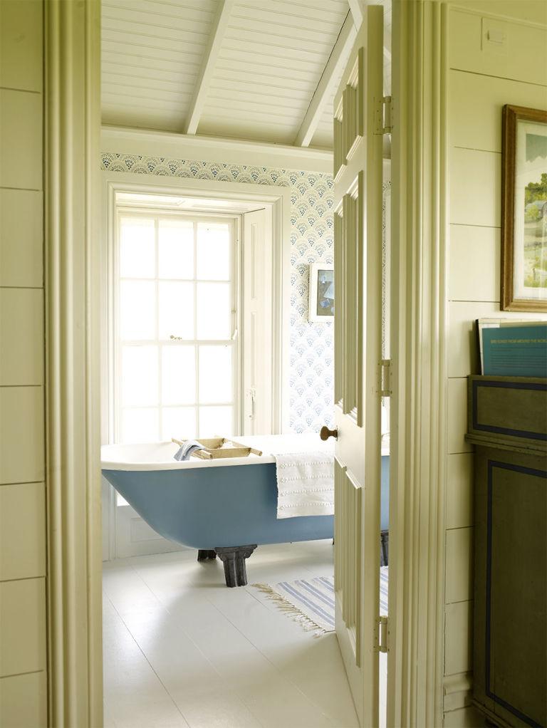 Blue Bath Bathroom