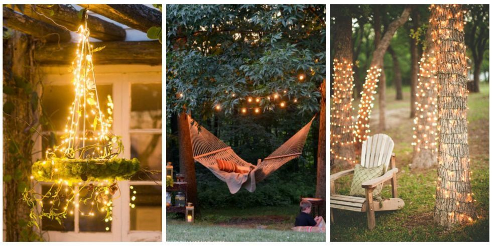 13 inspiring ways to use fairy lights in your garden