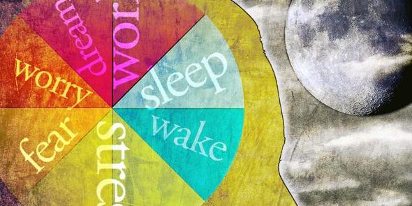 awake sleep illustration