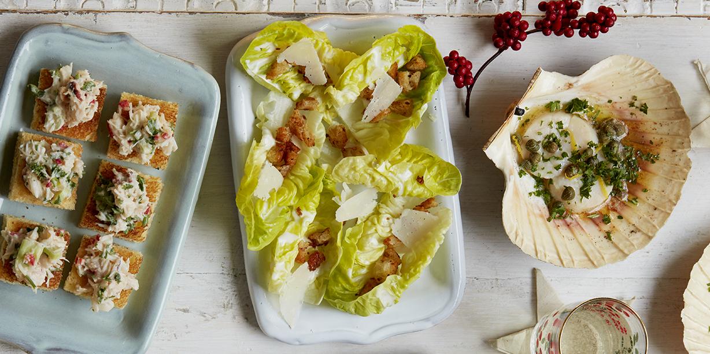 Christmas Canap Recipe Caesar Salad Cups