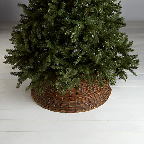 Extra Large Natural Willow Christmas Tree Skirt