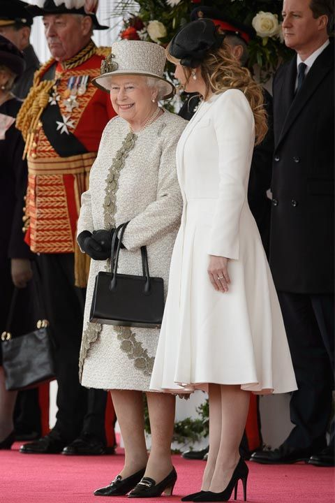 """Even though you might feel like you'veknown the Queen your whole life, remember: she doesn't know you. When you first meet her,address her as """"Your Majesty."""" Use""""Ma'am"""" the rest of the time, except when you say farewell, which should be """"Your Majesty"""" once again."""