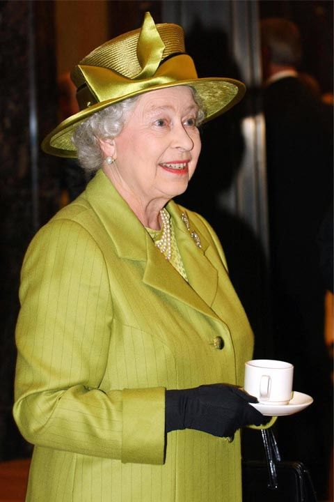 Since tea is huge part of the British culture, you should drink it as the Queen does. Hold the tea cup, not the cup and saucer, when at the table, and never, ever slurp as you drink. MORE: The British line of succession in pictures