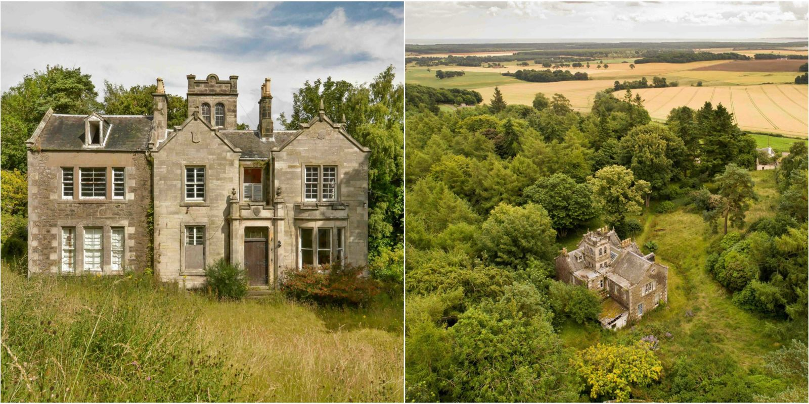 This picturesque scottish country manor estate is on sale for Country homes with acreage for sale
