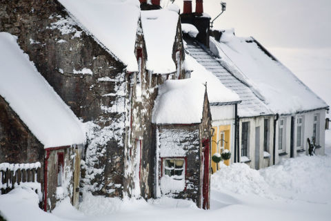 Snow in Scotland